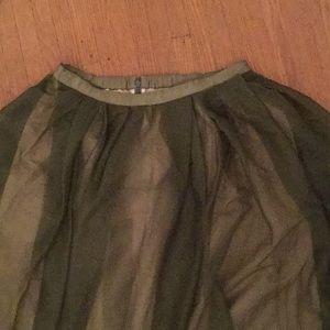 JCrew green skirt 8